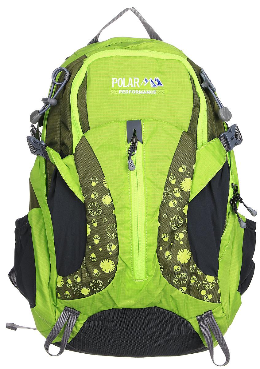 Рюкзак городской Polar, 14,5 л, цвет: зеленый. П1552-09П1552-09Женский компактный рюкзак с модным дизайном. Полностью вентилируемая спинка с системой Aircomfort, мягкие плечевые лямки создают дополнительный комфорт при ношении. Центральный отсек для персональных вещей и карманом для папки А4. Большой передний карман с органайзером, внутри удобный мягкий пенал на карабине. Два боковых кармана под бутылку с водой на резинке. Регулирующая грудная стяжка с удобным фиксатором. Регулирующий поясной ремень, удерживает плотно рюкзак на спине, что очень удобно при езде на велосипеде или продолжительных походах.