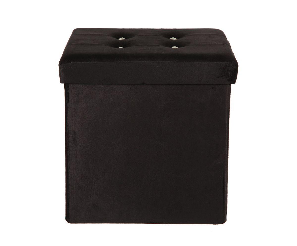 Пуф-короб для хранения HomeMaster, цвет: черный, 38 x 38 x 38 смLO-20SЭтот очаровательный пуф с крышкой и внутренним пространством для хранения, займет достойное место в вашей гостинной или прихожей. Поверхность украшена декором.