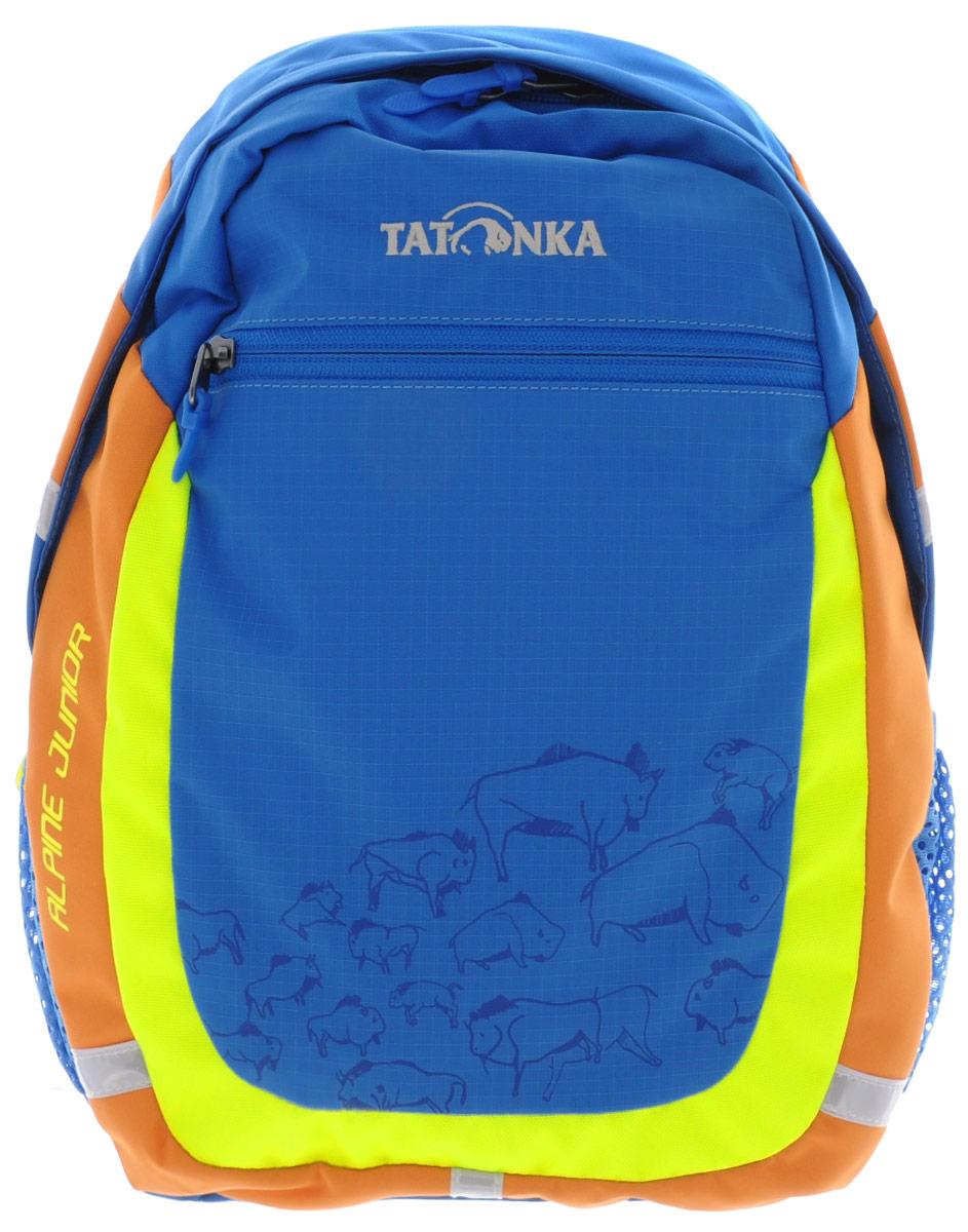 Рюкзак детский Tatonka Alpine Junior, цвет: синий, 11 л2074blАккуратный и удобный рюкзак для детей 4-7 лет. Рюкзак универсален, подойдет как для детского сада, так и путешествий. В нем поместится все необходимое: перекус, вода, сменная одежда, салфетки, небольшие игрушки и тд. Спинка с мягкой подкладкой, удобные S-образные лямки, нагрудный ремень: все это способствует идеальной посадке рюкзака. Отражающие элементы повышают безопасность ребенка на улице.