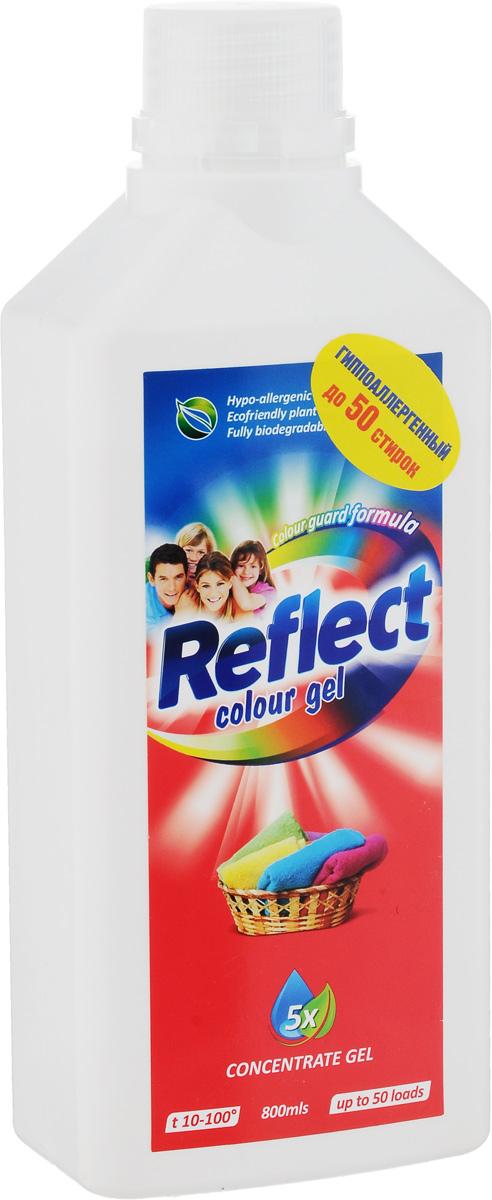 Гель для стирки цветного белья Reflect Colour, концентрированный, 800 мл790009Гель Reflect Colour является средством для стирки как для цветного белья, так и для темного белья. Содержит специальный закрепитель цвета, препятствующий перетеканию темных тонов на светлые. Гель отлично отстирывает различные загрязнения. Гель Reflect Colour удобен при хранении и транспортировке, он более концентрированный, поэтому с помощью одной бутылки геля вы сможете отстирать больше вещей, чем обычным порошком. Подходит как для ручной стирки, так и для стиральных машин любого типа. Товар сертифицирован.