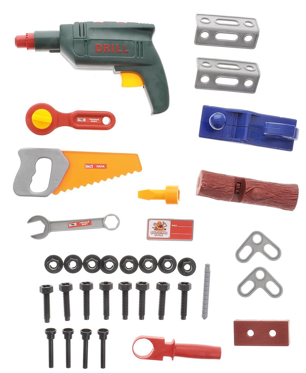 Подробнее о ABtoys Игрушечный набор инструментов 33 предмета abtoys игрушечный набор инструментов 26 предметов