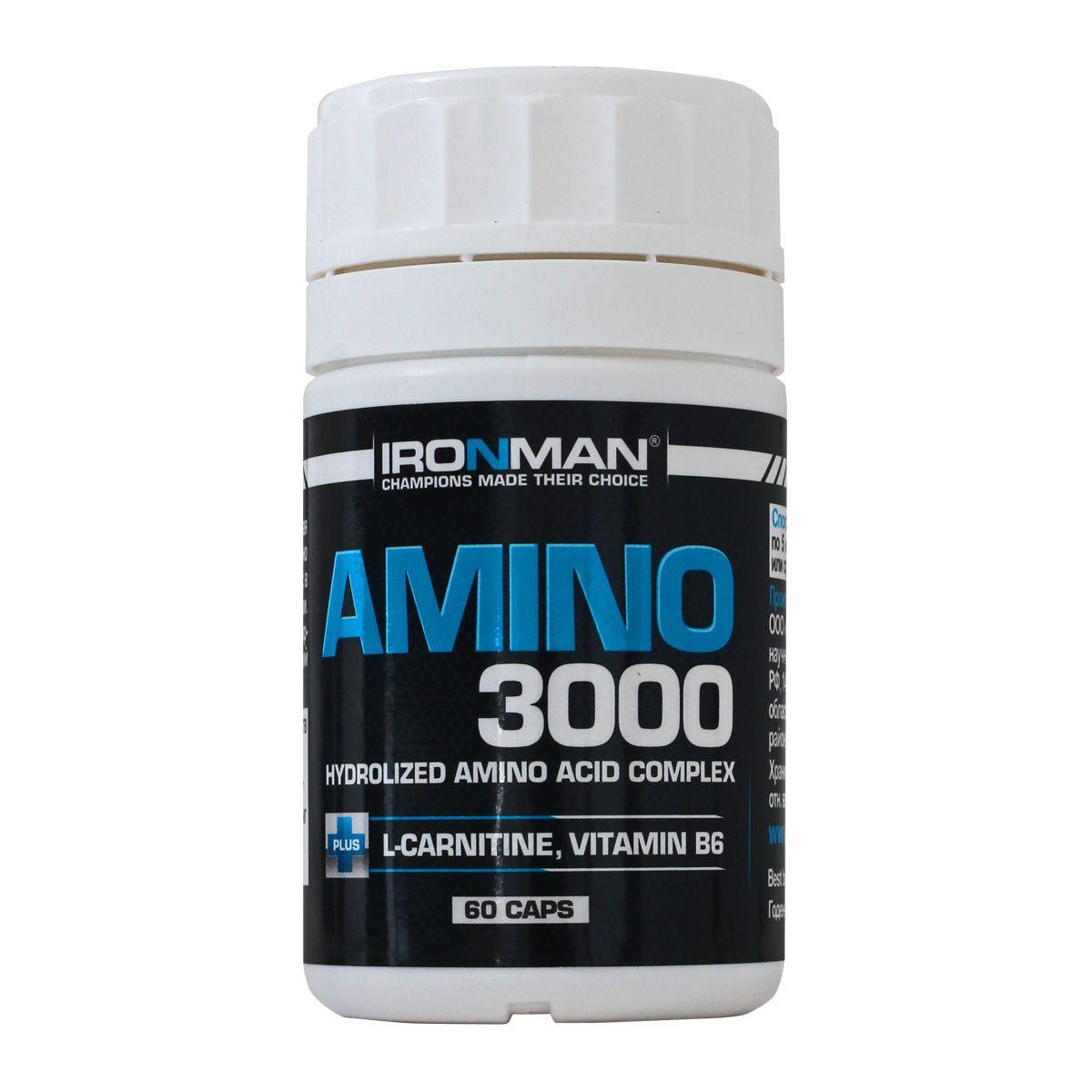 Ironman Амино 3000, 60 капсул 4650069821168