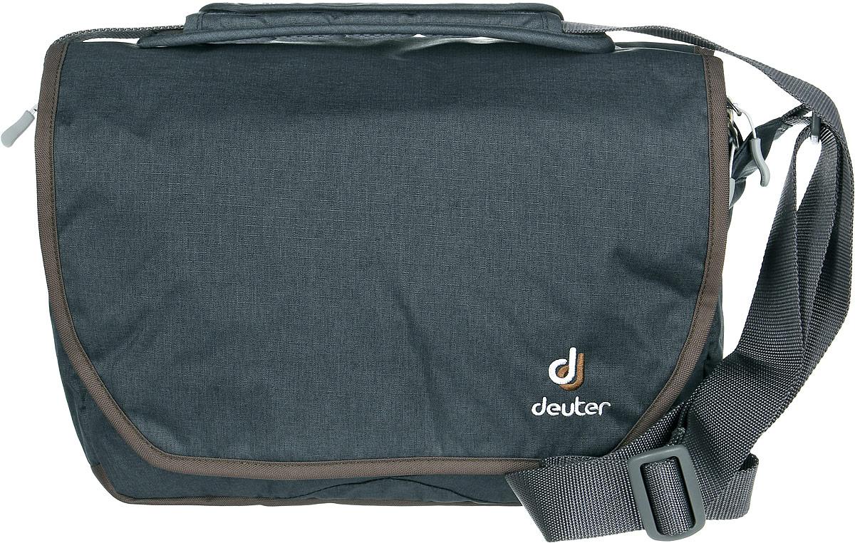 Сумка Deuter Carry out, цвет: темно-серый, коричневый, 8л сумки deuter сумка на плечо deuter 2016 17 tommy s dresscode black