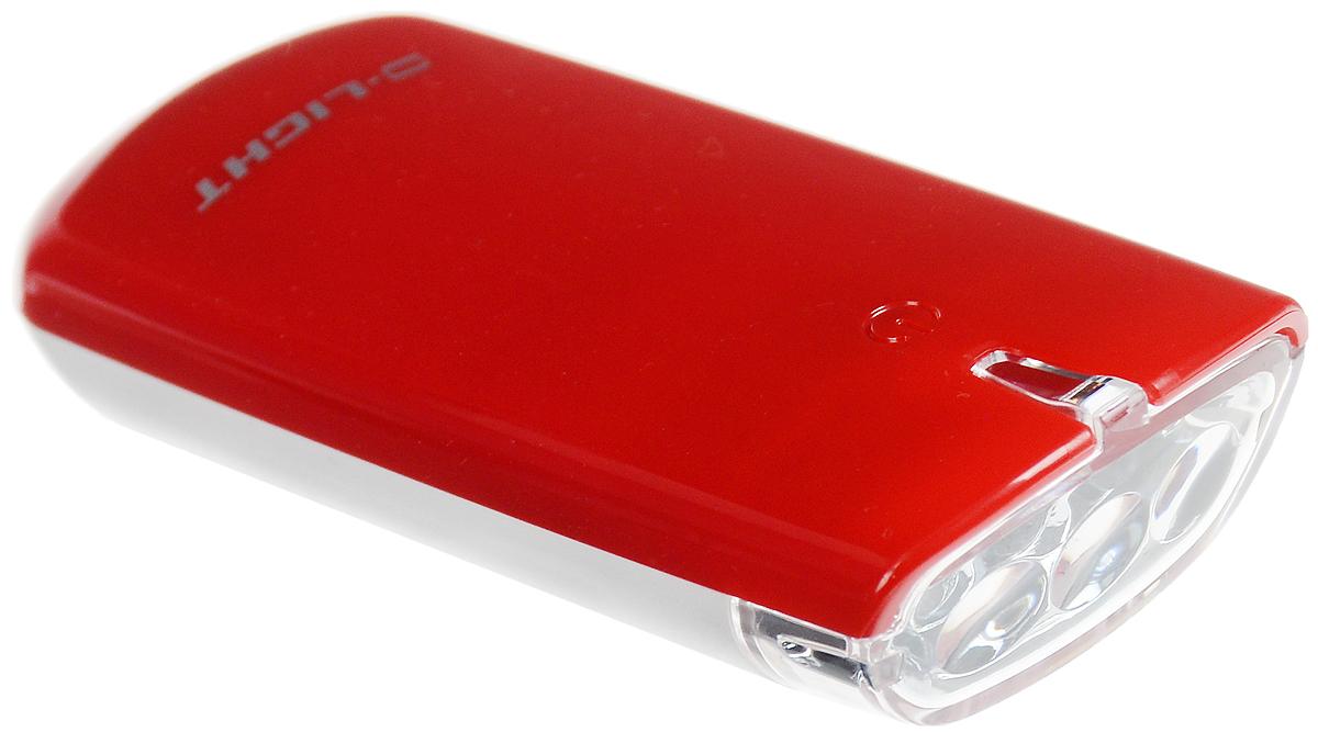 Фара велосипедная D-Light CG-120W, цвет: красный, белыйCG-120W-RedФара с тремя белыми светодиодами D-Light CG-120W предназначена для обеспечения большей безопасности при поездках в темное время суток. Легко снимается и помещается в кармане. Фара крепится без дополнительных инструментов. Корпус изделия выполнен из прочного пластика, водонепроницаем. Фара имеет 3 режима: мигание, ближний свет, дальний свет. Фонарь питается от 2 батарей типа АА (входят в комплект). Время свечения в режиме дальнего света: 30+ ч. Время свечения в режиме ближнего света: 60+ ч. Время мигания: 120+ ч. Размер фары (без учета крепления): 8,8 х 3,6 х 1,8 см.