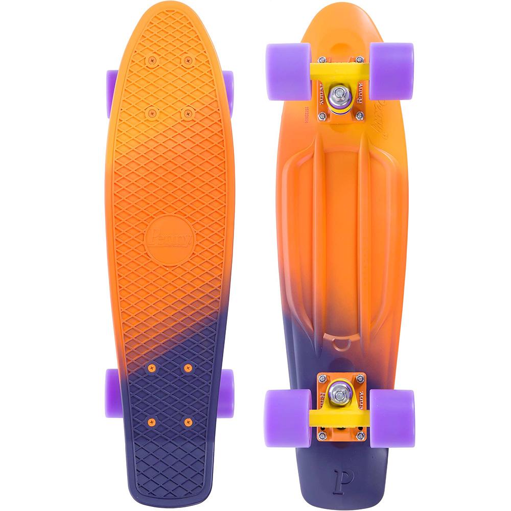 Пенни борд Penny Original 22 LTD, цвет: Yellow/Orange/PurPNYCOMP227Penny продукт 12-ти летнего опыта в производстве скейтбордов Бена Маккея. В Penny он вложил все что знал о дизайне и производстве, чтобы придумать качественную, крепкую, фановую и цветную виниловую доску пенни. PENNY комплект лонгборд для детей от 4-х лет. Предназначен для активного отдыха.