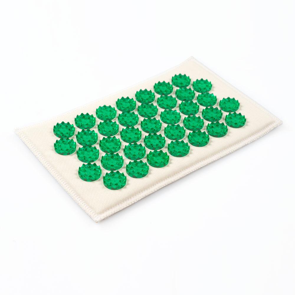 Массажер-иппликатор Тибетский на мягкой подложке, для чувствительной кожи, цвет: зеленый, 12х22 смФР-00000657Массажер-иппликатор Тибетский на мягкой подложке, для чувствительной кожи, цвет: зеленый, 12х22 см