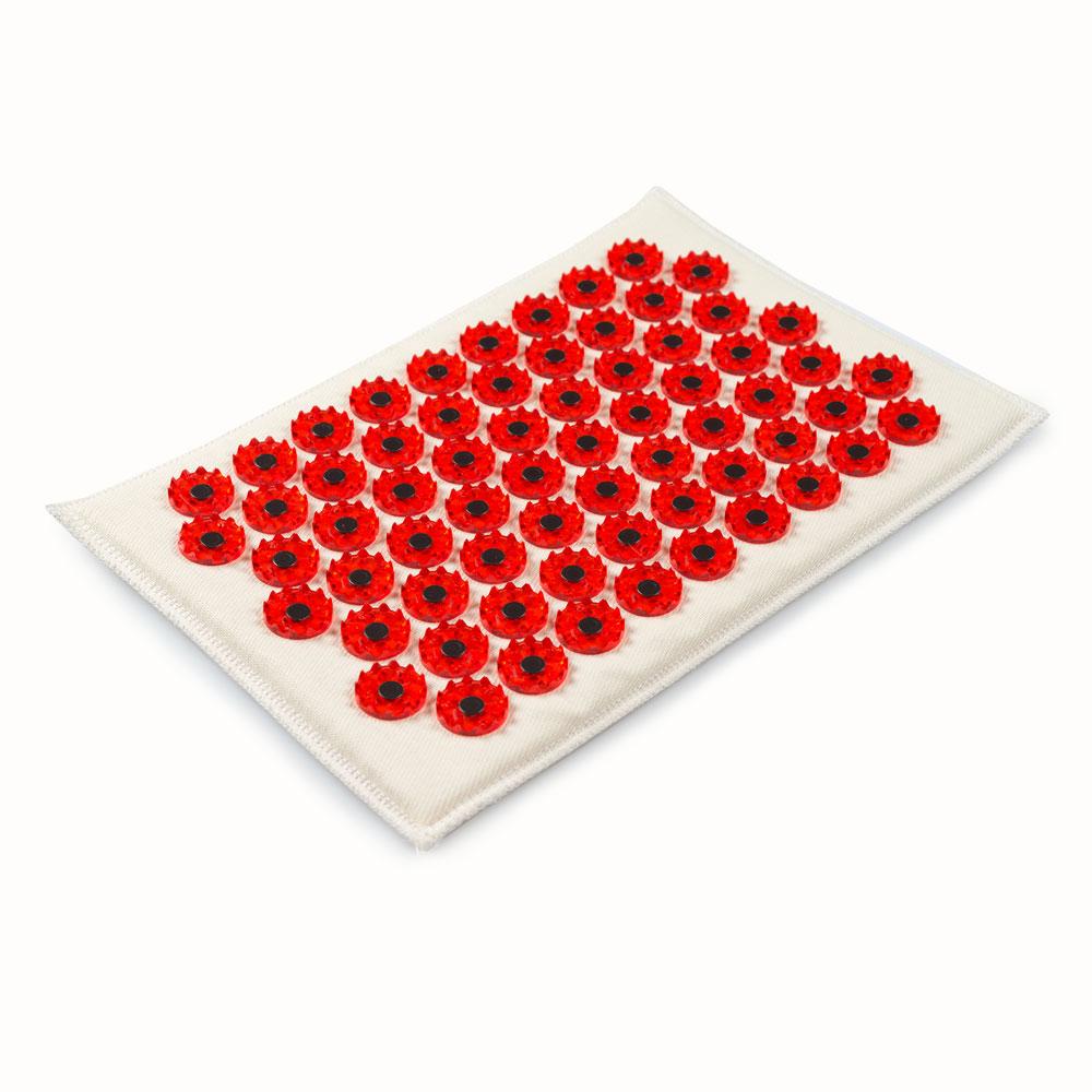 Массажер-иппликатор Тибетский на мягкой подложке, для чувствительной кожи, магнитный, цвет: красный, 17х28 смTHM-6Массажер-иппликатор Тибетский на мягкой подложке, для чувствительной кожи, магнитный, цвет: красный, 17х28 см