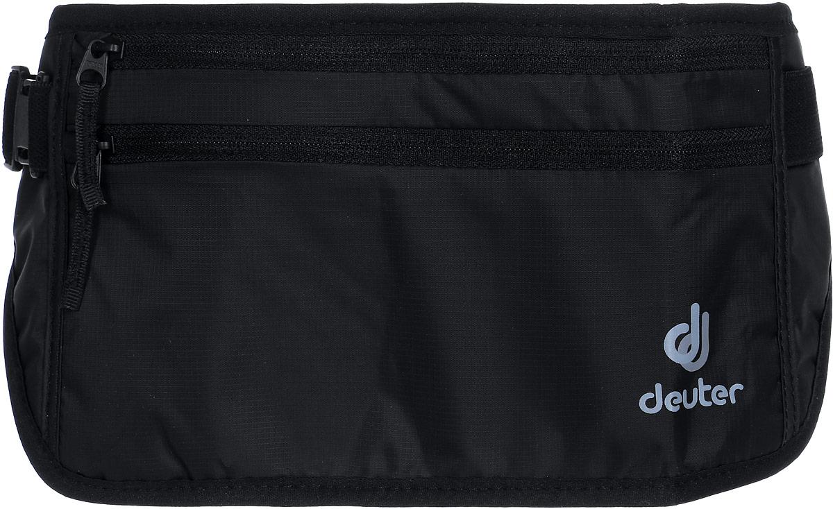 Кошелек Deuter Security Money Belt II, цвет: черный3910316_7000Сумка поясная. Два кармана на молнии, регулирока ремня.