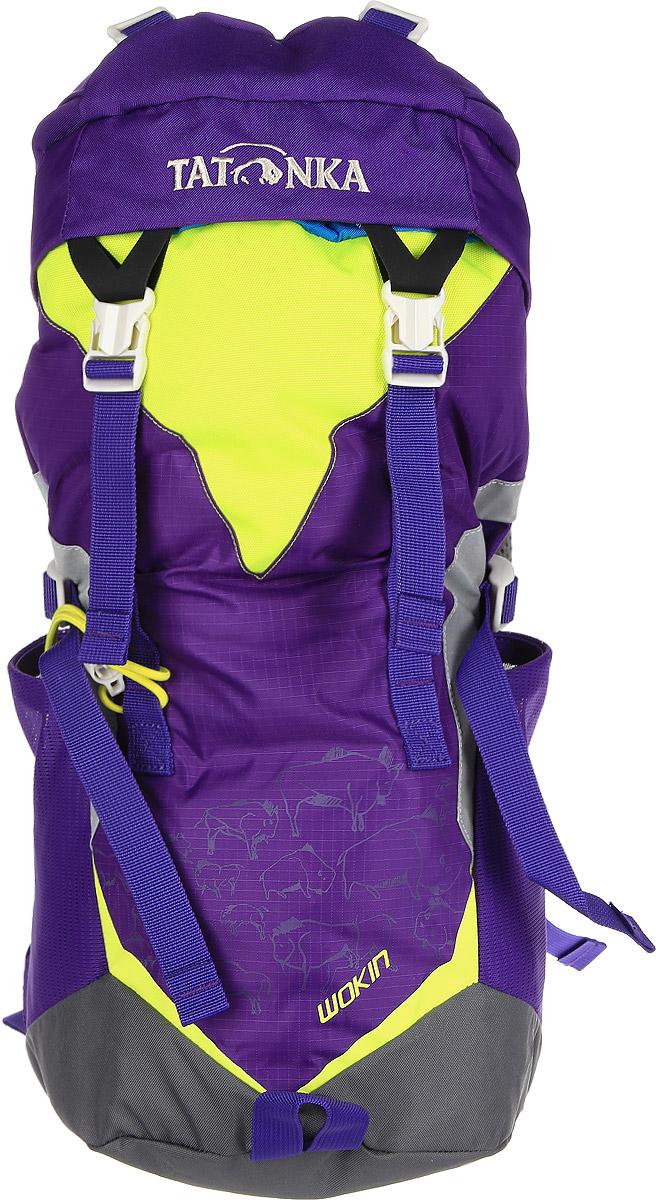Рюкзак детский Tatonka Wokin, цвет: фиолетовый, 11 лRivaCase 7560 blueТрекинговый рюкзак для юных путешественников c 6 лет. Смягченная несущая система рюкзака приспособлена к телосложению ребенка, а спортивный дизайн делает его взрослым