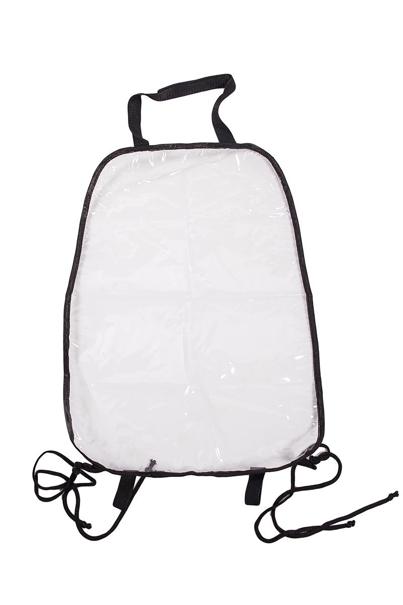 Накидка защитная на спинку переднего сиденья AvtoTink, ПВХ, 34 х 55 см, 2 шт72003Подходит для всех типов сидений Изготовлена из высокопрочного прозрачного 100% поливинилхлорида (ПВХ) защищает спинку переднего сиденья от грязной детской обуви быстро и легко крепится за направляющие подголовника с помощью липучки-велкро и веревками за основание сиденья. 2 штуки в упаковке