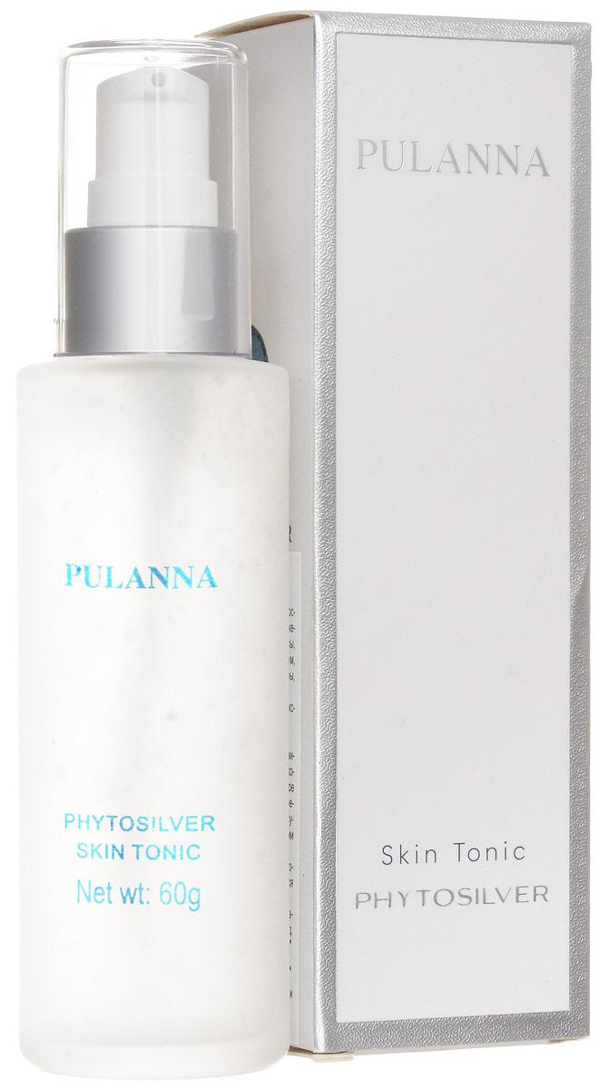 Pulanna Тоник для лица на основе био-серебра - Phytosilver Skin Tonic 60 г5902596005252После каждого очищения кожи очищающим молочком рекомендуется применять тоник. Средство сужает поры, препятствует их закупорке, регулирует работу сальных желез, препятствует размножению бактерий (предотвращает воспалительные процессы). Также снимает напряжение, воспаления, ускоряет регенерацию клеток, регулирует обменные процессы. Кожа протонизирована и подготовлена к дальнейшему уходу. Рекомендован для нормального, комбинированного и жирного типов кожи с 18 лет. Тоник также может использоваться в качестве легкого флюида для лица вместо дневного крема. Серия косметических средств PULANNA на основе био-серебра награждена Почетной Золотой медалью РАЕН им. И. И. Мечникова За практический вклад в укрепление здоровья нации.