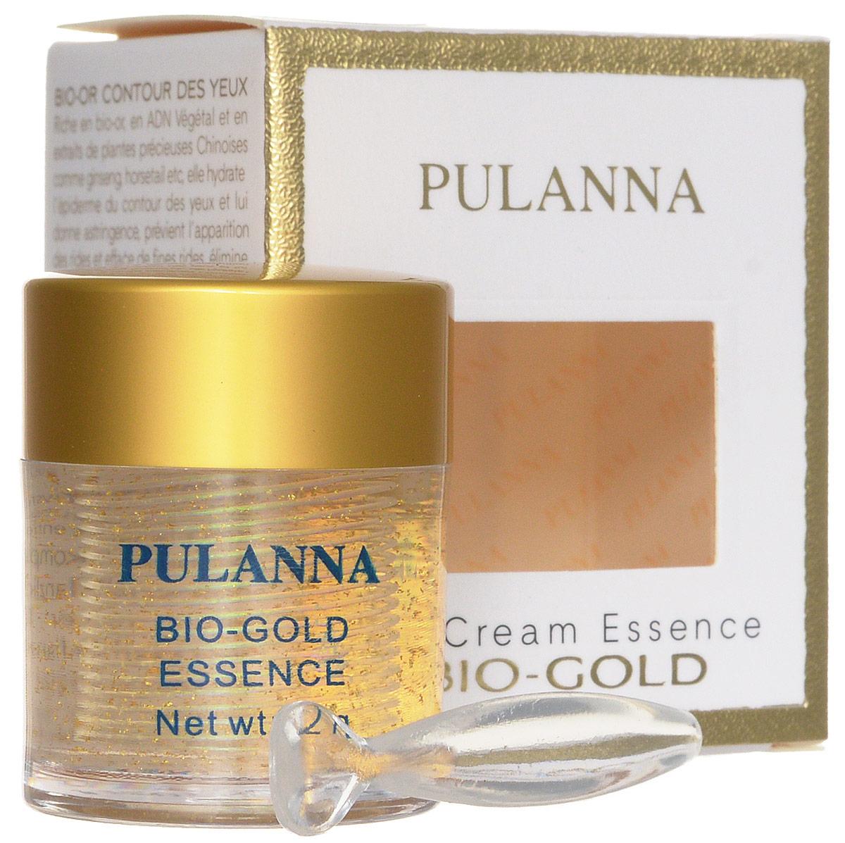 Pulanna Био-золотой гель для век на основе био-золота - Bio-gold Essence 21 г5902596005030Обогащенный гель с эффектом лифтинга. Осуществляет глубокое питание, регулирует обменные процессы, ускоряет регенерацию клеток, восполняет дефицит липидов в коже, увлажняет, нормализует кровоснабжение. Возвращает нежной коже век упругость и свежесть, активно борется с морщинами и предотвращает их появление. Снимает отечность, уменьшает темные круги под глазами. Обеспечивает коже длительное, глубокое увлажнение и питание. Био-золото, экстракт хвоща и экстракт женьшеня способствуют обновлению клеток, нормализации водно-жирового и кислородного обмена. Растительные ДНК участвуют в синтезе белков, регенерации клеток кожи. Является базой под макияж. Рекомендован с 40 лет в качестве основного ухода, с 35 лет курсами (28-30 дней).