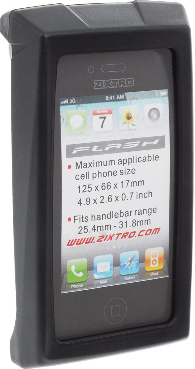 Чехол для смартфона на руль BiKase Flash, водонепроницаемый, цвет: черный, серый, прозрачный, 13,5 х 8 х 3 смZ1-055Водонепроницаемый чехол BiKase Flash позволит пользоваться гаджетом в любых погодных условиях. Устанавливается на руль при помощи поворачивающейся системой крепления. Возможность пользования всеми кнопками телефона и системой навигации. Максимальный размер применяемого гаджета: 12,5 х 6,6 х 1,7 см. Диаметр руля: 25,4-31,8 мм. Размер чехла (с учетом крепления): 13,5 х 8 х 9 см. Размер чехла (без учета крепления): 13,5 х 8 х 3 см.