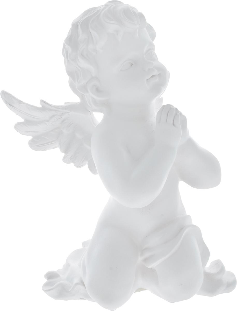 Фигурка декоративная Феникс-Презент Небесный ангел, высота 26,5 смES-412Фигурка декоративная Феникс-Презент Небесный ангел, выполненная из полирезина, станет оригинальным подарком для всех любителей необычных вещей. Изделие имеет приятный дизайн. Изысканный сувенир станет прекрасным дополнением к интерьеру. Вы можете поставить фигурку в любом месте, где она будет удачно смотреться и радовать глаз.
