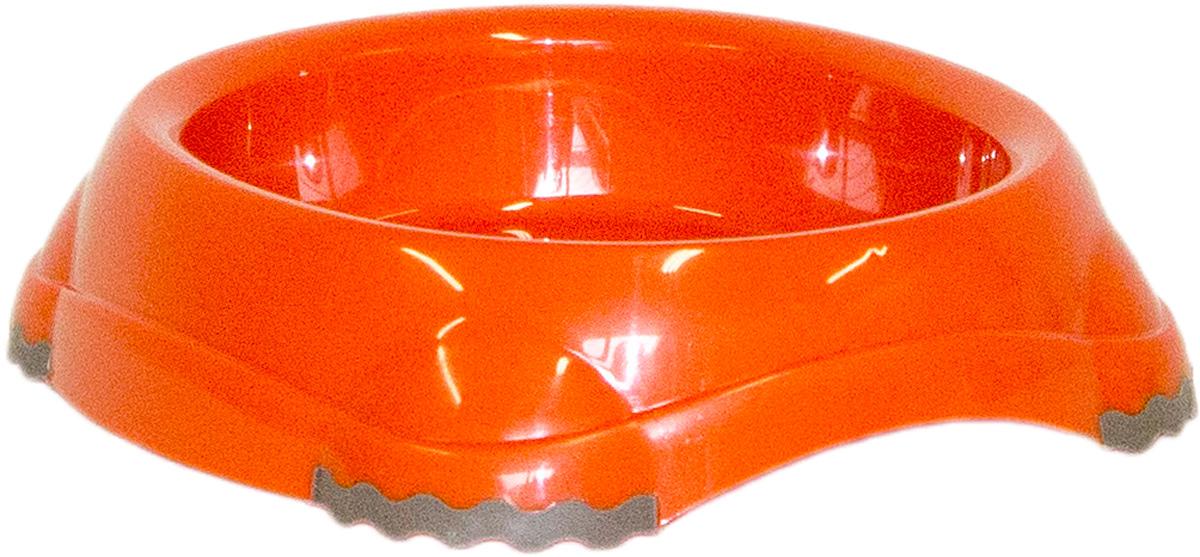 Миска Moderna Smarty bowl, с антискольжением, цвет: оранжевый, 12 х 2,5 см14H100148Миска для корма и воды из полированного пластика. Ножки миски имеют резиновые накладки для предотвращения скольжения по полу. Качественный пластик не гнется, не ломается, не впитывает запахи, миска легко моется, имеет длительных срок эксплуатации. Стильный дизайн, широкая цветовая гамма. Специально разработанная конструкция для удобства Вашего питомца. Характеристики: Размер миски: 14,5 х 13 х 3,5 см; Глубина миски: 2,5 см; Цвет: оранжевый.