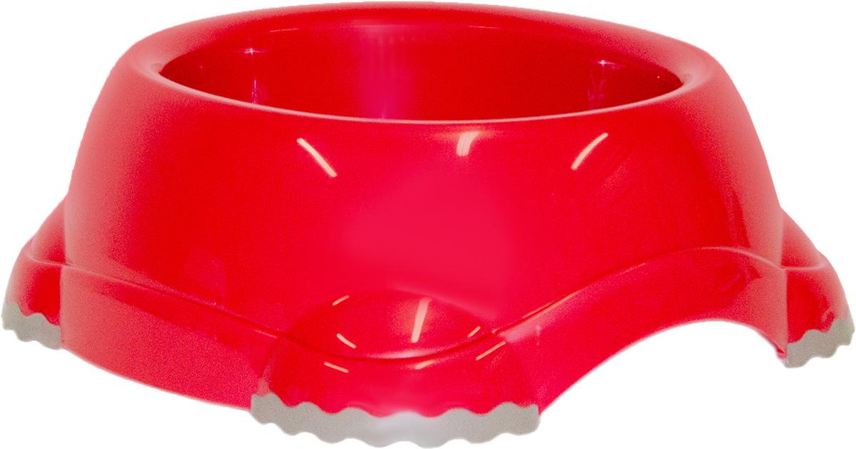 Миска Moderna Smarty bowl, с антискольжением, цвет: бордовый, 23х10 см14H104202