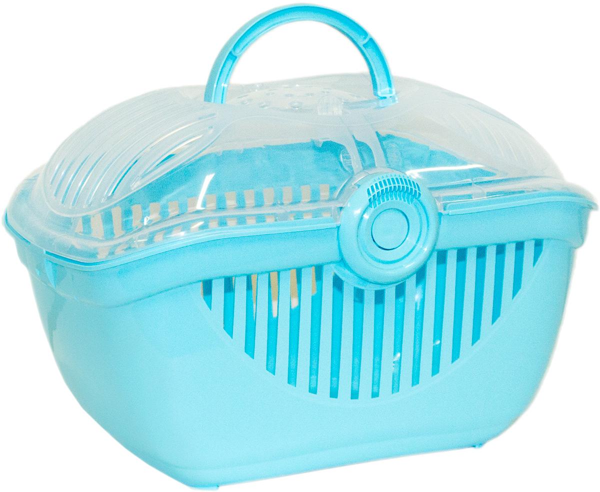 Переноска для кошек Moderna Top Runner, цвет: голубой, 36х48х32 см14T800181