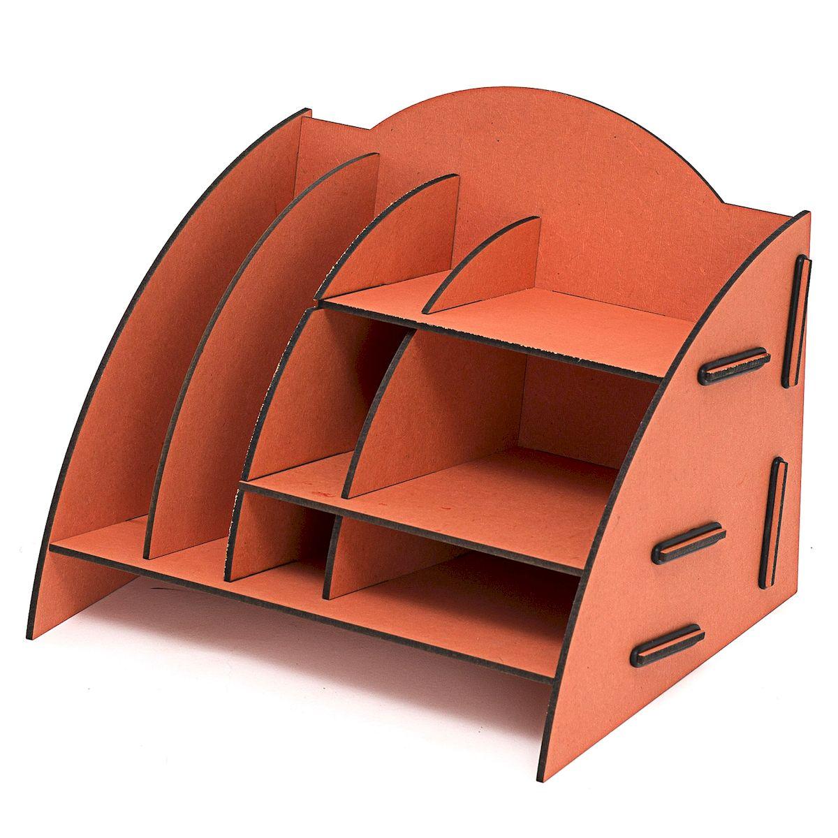 Органайзер настольный Homsu, 8 отделов, 23 x 20 x 19 смHOM-341Настольный органайзер Homsu выполнен из МДФ и легко собирается из съемных частей. Изделие имеет 8 отделений для хранения документов, канцелярских предметов и всяких мелочей. Органайзер просто незаменим на рабочем столе, он вместителен и не занимает много места. Оригинальный дизайн дополнит интерьер дома и разбавит цвет в скучном сером офисе. Размер: 23 х 20 х 19 см.