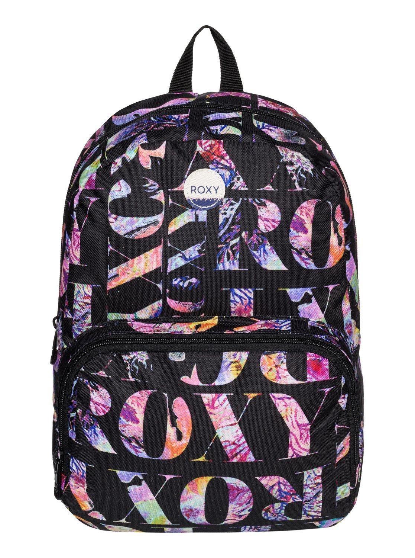 Рюкзак женский Roxy Always Core, цвет: черный, мультицвет. ERJBP03261-KVJ7ERJBP03261-KVJ7Женский рюкзак Roxy выполнен из текстиля. У модели одно основное отделение. Передний карман на молнии. Рюкзак с регулируемыми по длине плечевыми лямками и петлей для подвешивания.