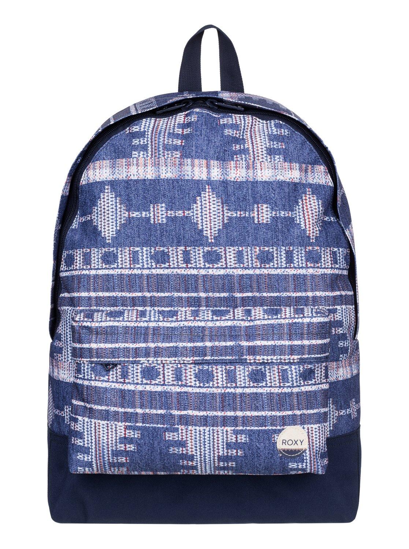 Рюкзак женский Roxy Be Young, цвет: синий. ERJBP03266-BSQ7BP-001 BKЖенский рюкзак Roxy выполнен из текстиля. У модели одно основное отделение. Передний карман на молнии. Рюкзак с регулируемыми по длине плечевыми лямками и петлей для подвешивания.