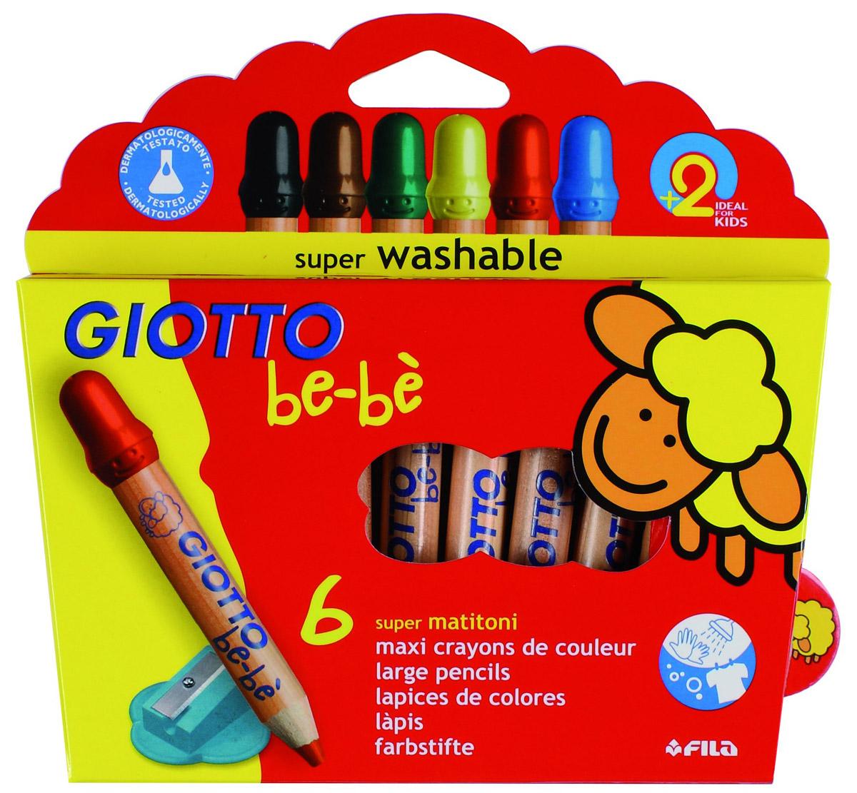 Giotto Набор цветных карандашей Bebe Super Largepencils c точилкой 6 шт72523WDЦветные карандаши Glotto Bebe Super Largepencils непременно, понравятся вашему юному художнику. Набор включает в себя 6 ярких насыщенных цветных карандаша утолщенной формы. Каждый карандаш имеет защитный колпачок. Идеально подходят для детских садов и школьников младших классов. Карандаши изготовлены из калифорнийского кедра, экологически чистые. Имеют прочный неломающийся грифель, не требующий сильного нажатия и легко затачиваются. Без труда стираются и отстирываются. Порадуйте своего ребенка таким восхитительным подарком! В комплекте: 6 карандашей, точилка. Цветные карандаши Glotto Bebe Super Largepencils непременно, понравятся вашему юному художнику. Набор включает в себя 6 ярких насыщенных цветных карандаша утолщенной формы. Каждый карандаш имеет защитный колпачок. Идеально подходят для детских садов и школьников младших классов. Карандаши изготовлены из калифорнийского кедра, экологически чистые. Имеют прочный неломающийся грифель, не требующий сильного нажатия и легко затачиваются. Без труда стираются и отстирываются. Порадуйте своего ребенка таким восхитительным подарком! Характеристики:Материал:дерево, грифель.