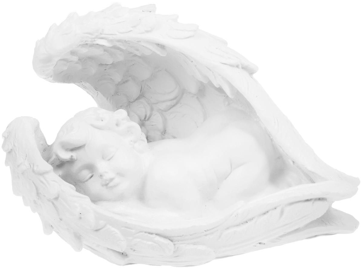 Фигурка декоративная Феникс-Презент Крылья ангела, высота 15 см40679Фигурка декоративная Феникс-Презент Крылья ангела, выполненная из полирезины, станет оригинальным подарком для всех любителей необычных вещей. Она выполнена в классическом стиле в виде спящего ангела. Изысканный сувенир станет прекрасным дополнением к интерьеру. Вы можете поставить фигурку в любом месте, где она будет удачно смотреться и радовать глаз.