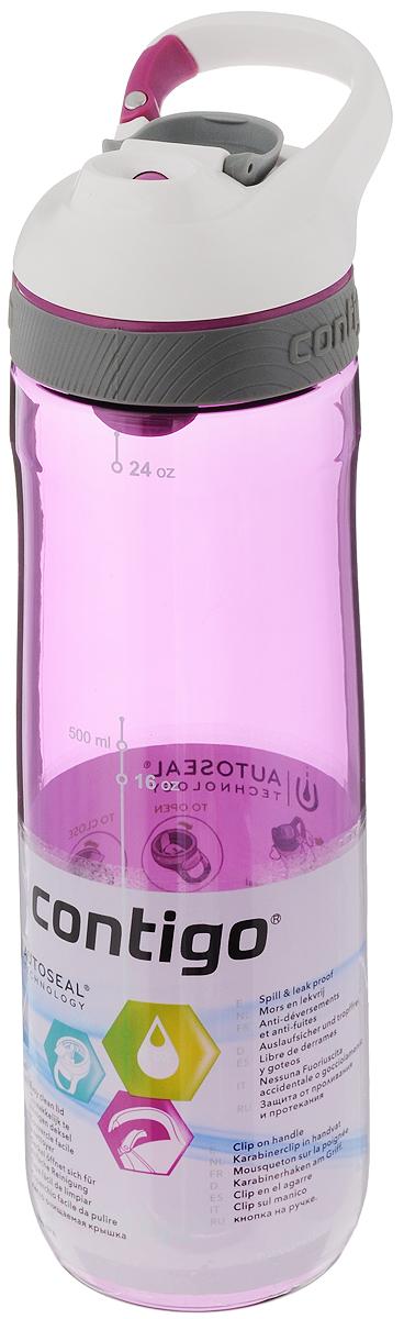 Бутылка для воды Contigo Cortland, цвет: фиолетовый, белый, 720 млCONTIGO0463Бутылка для воды Contigo Cortland изготовлена из высококачественного прозрачного пластика, безопасного для здоровья. Закручивающаяся крышка с герметичным клапаном для питья обеспечивает защиту от проливания. Оптимальный объем бутылки позволяет взять небольшую порцию напитка. Она легко помещается в сумке или рюкзаке и всегда будет под рукой. Изделие имеет мерную шкалу, которая позволит контролировать количество жидкости. Такая идеальная бутылка небольшого размера, но отличной вместимости наполняет оптимизмом, даря заряд позитива и хорошего настроения. Бутылка для воды Contigo Cortland - отличное решение для прогулки, пикника, автомобильной поездки, занятий спортом и фитнесом. Высота бутылки (с учетом крышки): 25,5 см. Диаметр дна: 6,5 см.