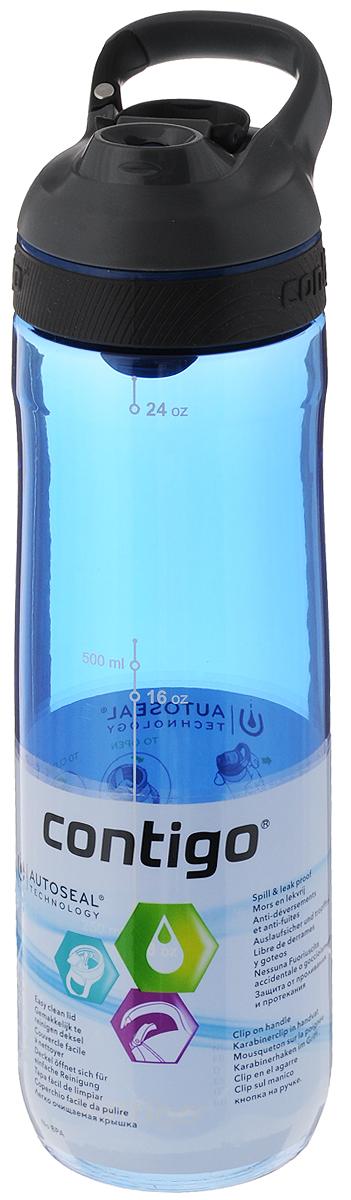 Бутылка для воды Contigo Cortland, цвет: синий, серый, черный, 720 млCONTIGO0462Бутылка для воды Contigo Cortland изготовлена из высококачественного прозрачного пластика, безопасного для здоровья. Закручивающаяся крышка с герметичным клапаном для питья обеспечивает защиту от проливания. Оптимальный объем бутылки позволяет взять небольшую порцию напитка. Она легко помещается в сумке или рюкзаке и всегда будет под рукой. Изделие имеет мерную шкалу, которая позволит контролировать количество жидкости. Такая идеальная бутылка небольшого размера, но отличной вместимости наполняет оптимизмом, даря заряд позитива и хорошего настроения. Бутылка для воды Contigo Cortland - отличное решение для прогулки, пикника, автомобильной поездки, занятий спортом и фитнесом. Высота бутылки (с учетом крышки): 25,5 см. Диаметр дна: 6,5 см.