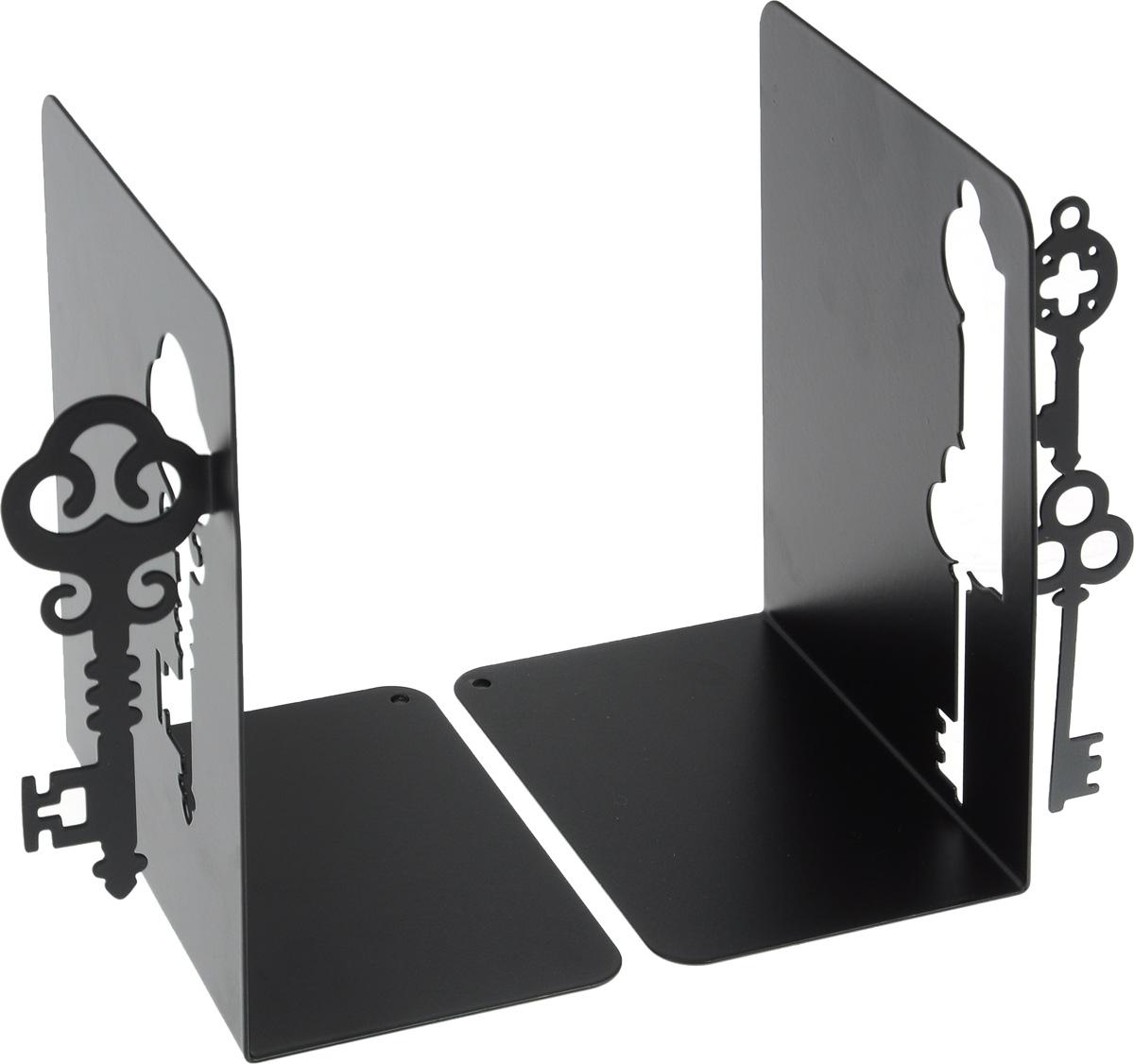 Подставка-ограничитель декоративная для книг Феникс-Презент Ключи, 2 штFS-91909Декоративная подставка-ограничитель для книг Феникс-Презент Ключи, изготовленная из металла, состоит из двух частей, с помощью которых можно подпирать книги с двух сторон. Изделия оформлены декоративными ключами. Между ограничителями можно поместить неограниченное количество книг. Подставка оснащена антискользящими подложками Подставка-ограничитель для книг Феникс-Презент Ключи - это не только подставка, но и интересный элемент декора, который ярко дополнит интерьер помещения. Размер подставок-ограничителей: 15 х 12 х 15 см.Комплектация: 2 шт.