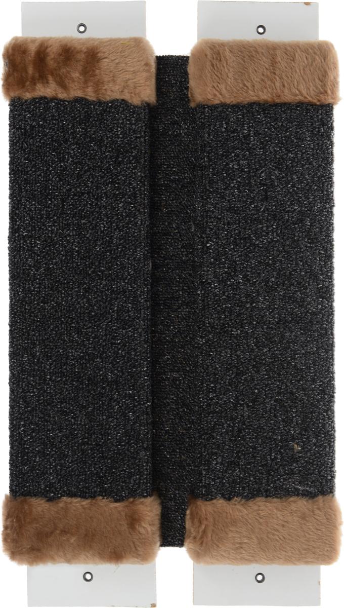 Когтеточка ЗооМарк, настенная, угловая, цвет: светло-коричневый, 57 х 30 х 3,5 см002_серый, светло-коричневыйУгловая когтеточка ЗооМарк предназначена для стачивания когтей вашей кошки и предотвращения их врастания. Волокна ковролина обеспечивает естественный уход за когтями питомца. Когтеточка позволяет сохранить неповрежденными мебель и другие предметы интерьера. Угловая когтеточка может крепиться на смежных поверхностях стен и пола. Длина когтеточки: 57 см. Длина рабочей части: 48 см.