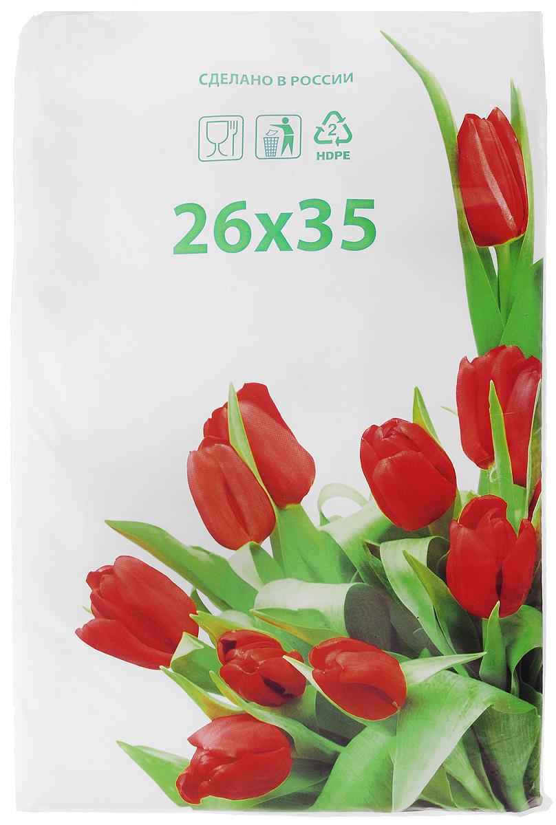 Пакет фасовочный Артпласт Тюльпаны, 26 х 35 см, 1000 штФНД21114Фасовочные пакеты Артпласт Тюльпаны - это пакеты без ручек, выполненные из ПНД (полиэтилена низкого давления). Такие пакеты являются практичными, экономичными и простыми. Фасовочные пакеты в основном используются для упаковки различных пищевых продуктов, а также упаковки некоторых видов товаров непродовольственной группы. Пакеты упакованы в пласт белого цвета с изображением красных тюльпанов. Размер пакетов: 26 х 35 см.