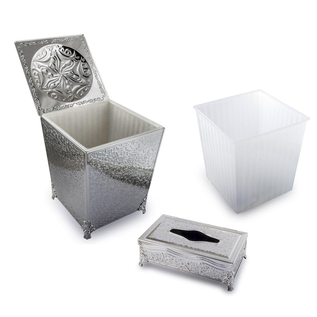 Корзина для мусора и подставка для салфеток Rosenberg. S-229177.858@19113корзина для мусора и подставка для салфеток, размеры: корзина 22.5 х 22.5 х 31 см подставка 15 х 27 х 9 см
