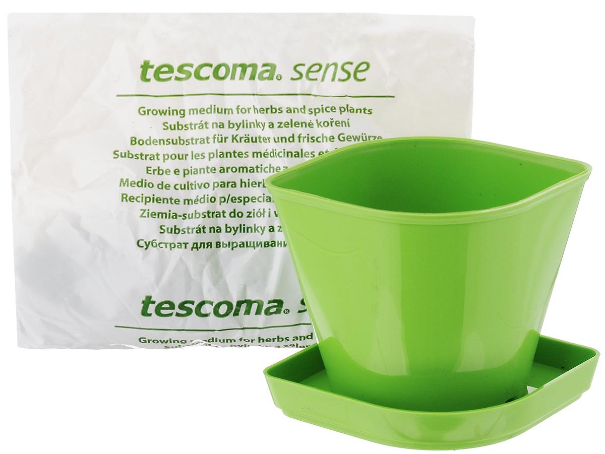 Набор для выращивания пряных растений Tescoma Кресс-салат, 4 предмета899076Набор Tescoma Кресс-салат идеально подходит для выращивания трав в домашних условиях. Комплект включает в себя семена, органический субстрат и горшок, выполненный из прочного пластика. Инструкция по применению внутри пакета. Пластиковый горшок имеет такую форму, что его можно вставить в уже продаваемые декоративные керамические горшки для пряностей Tescoma Sense, благодаря чему весь продукт станет отличным эстетическим украшением любой кухни. Размер горшка: 11 х 9 х 8 см. Размер поддона: 12,5 х 9,5 х 1,5 см.