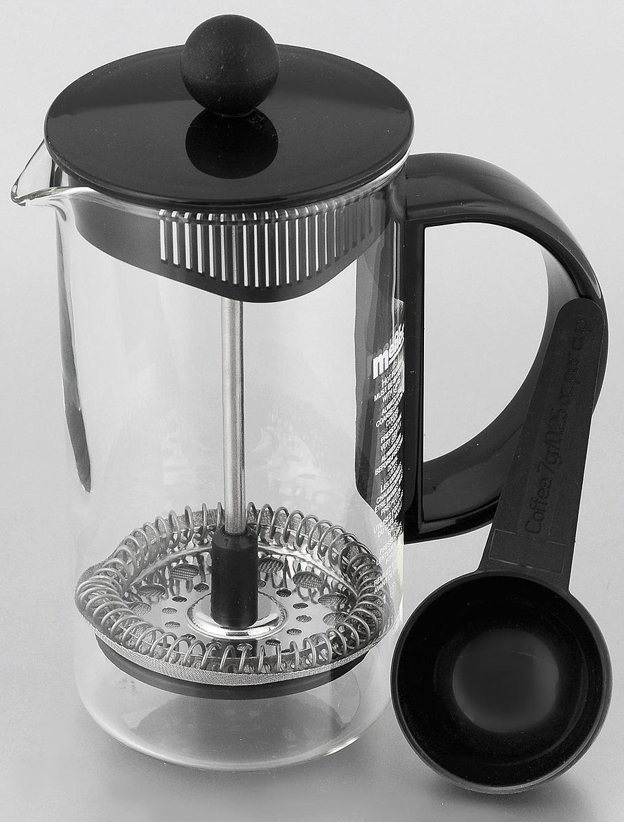 Френч-пресс Melior Rio/Junior, с мерной ложкой, 350 млM1583-01Френч-пресс Melior Rio/Junior позволит быстро и просто приготовить свежий и ароматный кофе или чай. Цветовая гамма подойдет даже для самого яркого интерьера. Френч-пресс изготовлен из высокотехнологичных материалов на современном оборудовании: - корпус изготовлен из высококачественного жаропрочного стекла, устойчивого к окрашиванию и царапинам; - фильтр-поршень из нержавеющей стали выполнен по технологии Press-Up для обеспечения равномерной циркуляции воды; Практичный и стильный дизайн френч-пресса Melior полностью соответствует последним модным тенденциям в создании предметов бытового назначения. В комплект входит мерная ложка. Можно мыть в посудомоечной машине. Диаметр по верхнему краю: 7 см. Высота (с учетом крышки): 15 см. Длина ложки: 10 см. Диаметр рабочей части: 4,5 см.