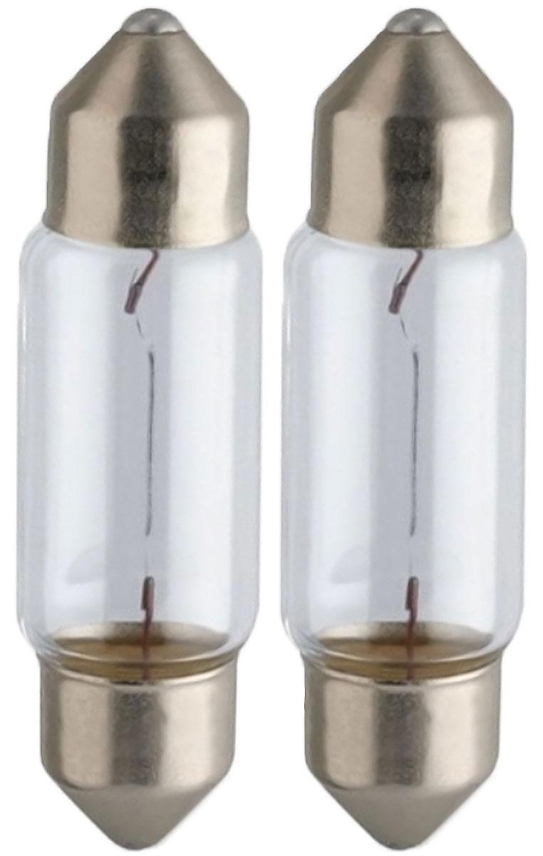 Лампа автомобильная Philips Vision, для салона, цоколь C5W (SV8,5-35/11), 12V, 5W, 2 шт12844B2 (бл.)Автомобильная лампа Philips Vision изготовлена из запатентованного кварцевого стекла с УФ- фильтром Philips Quartz Glass. Кварцевое стекло в отличие от обычного стекла выдерживает гораздо большее давление и больший перепад температур. При попадании влаги на работающую лампу, лампа не взрывается и продолжает работать. Лампа Philips Vision производит на 30% больше света по сравнению со стандартной лампой, благодаря чему стоп-сигналы или указатели поворота будут заметны с большего расстояния. Лампа Philips Vision отличается высокой эффективностью, соответствуя всем современным требованиям.