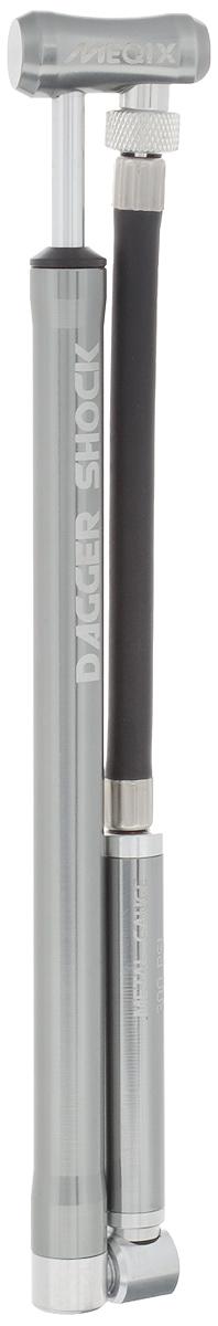 Насос высокого давления MEQIX Dagger Shock L6056Насос высокого давления MEQIX Dagger Shock L станет незаменимым аксессуаром для любителей велоспорта. Он поможет с легкостью накачать большинство видов воздушных вилок и задних амортизаторов, не прилагая особых усилий. Благодаря компактным размерам и высококачественным материалам корпуса, он станет надежным помощником. Подходит только для клапанов Schrader. Максимальное давление: 20 бар (300 PSI).Длина (в сложенном виде): 23 см.