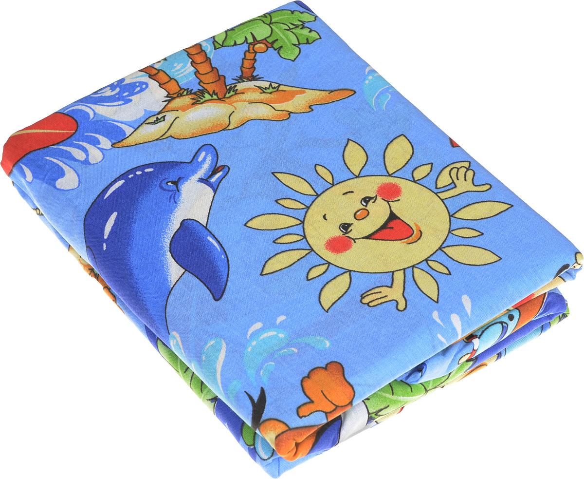 Letto Комплект белья для новорожденных цвет голубой 3 предмета BG-24
