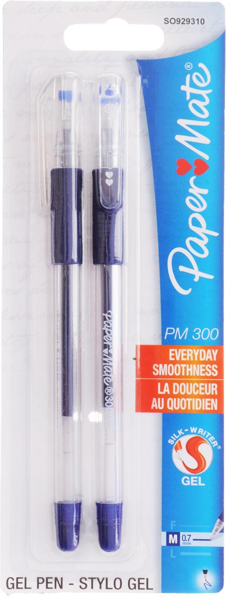 Ручка гелевая PM 300, синяя, 0,7мм, 2 шт. в блистереPM-S0929310Прозрачный корпус, резиновый упор под пальцы Особенности: Прозрачный корпус Резиновый упор под пальцы