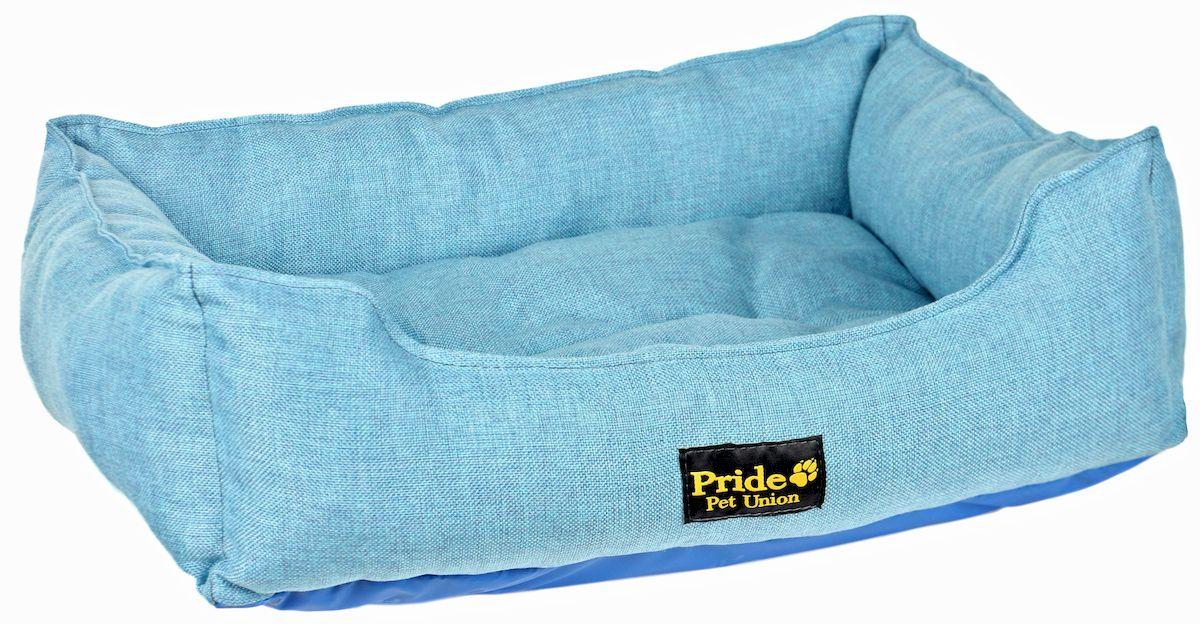 Лежак для животных Pride Прованс, цвет: голубой, 52 х 41 х 10 см10012220Лежак Pride Прованс непременно станет любимым местом отдыха вашего домашнего животного. Изделие выполнено из полиэстера, а наполнитель - из холлофайбера. Такой материал не теряет своей формы долгое время. Внутри имеется мягкая съемная подстилка. На таком лежаке вашему любимцу будет мягко и тепло. Он подарит вашему питомцу ощущение уюта и уединенности.