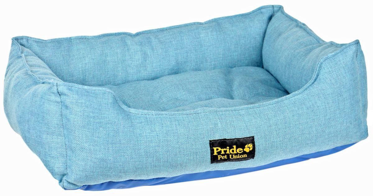 Лежак для животных Pride Прованс, цвет: голубой, 85 х 72 х 20 см10012223Лежак Pride Прованс прекрасно подойдет для отдыха вашего домашнего питомца. Предназначен для собак средних и больших пород. Изделие выполнено из прочных материалов высшего качества. Лежак снабжен съемной и мягкой подушкой. Комфортный и уютный лежак обязательно понравится вашему питомцу, животное сможет там отдохнуть и выспаться. Размер лежака: 85 х 72 х 20 см. Состав: 100% полиэстер. Наполнитель: холлофайбер.