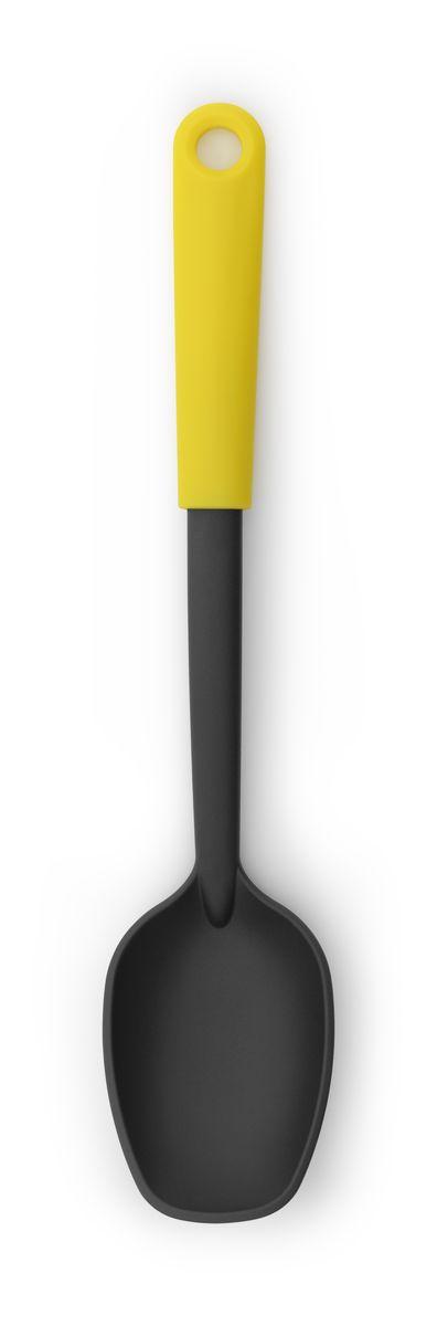 Ложка поварская Brabantia Tasty ColoursCM000001328Ложка отлично подходит для выкладывания овощей, картофеля фри и т.п. Изготовлена из упругого термостойкого нейлона (макс. 220°C) и не оставляет царапин на посуде с антипригарным покрытием; Изделие легко моется - можно мыть в посудомоечной машине; Петелька для подвешивания; Входит в коллекцию Brabantia Tasty Colours- красочное решение для выполнения любой задачи на кухне! 5-летняя гарантия Brabantia.