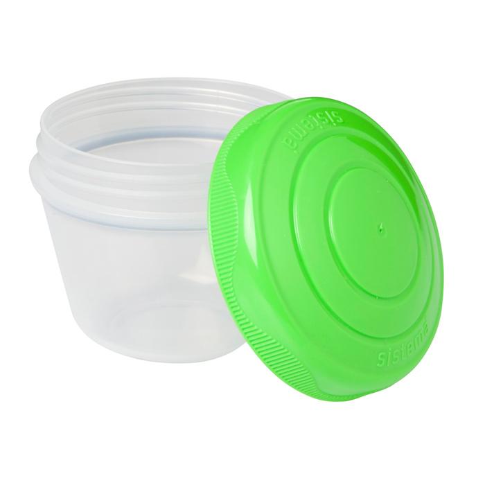 Йогурт Sistema TO-GO цвет зеленый фиолетовый 150мл (2шт)21466Контейнер To Go создан для людей ведущих активный образ жизни. Контейнер позволит удобно хранить йогурт, детское питания, остатки еды или взять в школу обед. Можно мыть в посудомоечной машине.