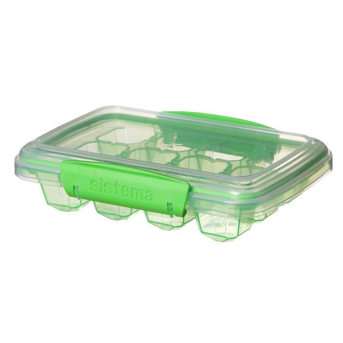 Контейнер для льда Sistema Klip It, средний, цвет: зеленый, 8 ячеек61445Контейнер Klip It предназначен для приготовления 12 кубиков льда. Крышка с силиконовой прокладкой герметично закрывается что помогает дольше сохранить полезные свойства продуктов. Контейнер оснащен фиксирующимися зажимами – клипсами, которые при необходимости можно заменить. Контейнеры вкладываются один в другой для экономии места при хранении. Можно мыть в посудомоечной машине.