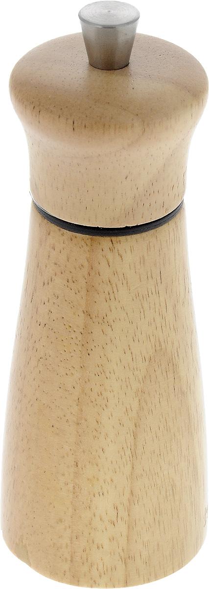 Мельница для перца и соли Tescoma Virgo Wood, высота 14 см658220Мельница для перца и соли Tescoma Virgo Wood - отличное приспособление для приготовления блюд с различными видами только что свежемолотого перца и соли. Изделие имеет керамический механизм размола и регулировку степени грубости помола перца и соли. В комплекте предусмотрены 2 цветных насадки-кольца - для перца и соли. Мельница выполнена из благородной древесины - бразильского каучука (Hevea brasiliensis). Не предназначена для мытья в посудомоечной машине.