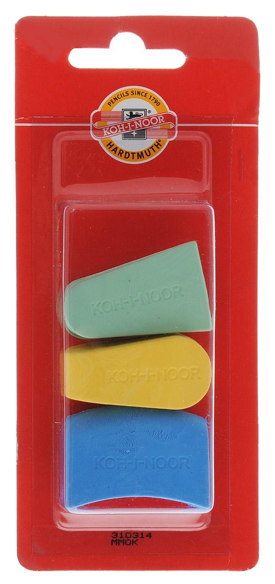 Koh-i-Noor Набор ластиков цвет зеленый желтый голубой 3 шт34650_желтый, зеленыйЛастики Koh-i-Noor идеально подходят для применения как в школе, так и в офисе.Ластики обеспечивают высокое качество коррекции, не повреждают поверхность бумаги, даже при сильном трении не оставляют следов.Абсолютно безопасны, не токсичны и экологичны.В упаковке 3 ластика.