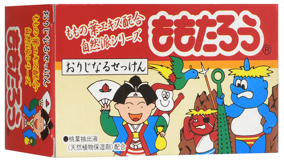 """Fudo Kagaku Детское мыло """"Момотаро"""", с экстрактом листьев персика, 100 г А7769"""