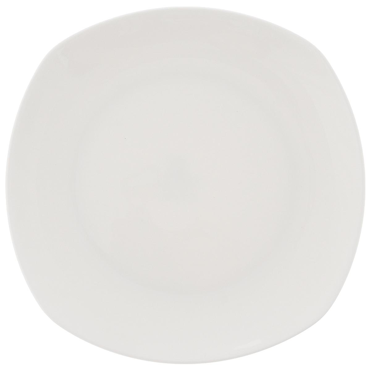 Тарелка Wilmax, 16,5 х 16,5 смWL-991000 / AТарелка Wilmax, изготовленная из высококачественного фарфора, имеет оригинальную форму. Она прекрасно впишется в интерьер вашей кухни и станет достойным дополнением к кухонному инвентарю. Тарелка Wilmax подчеркнет прекрасный вкус хозяйки и станет отличным подарком. Можно мыть в посудомоечной машине и использовать в микроволновой печи. Размер тарелки (по верхнему краю): 16,5 х 16,5 см.