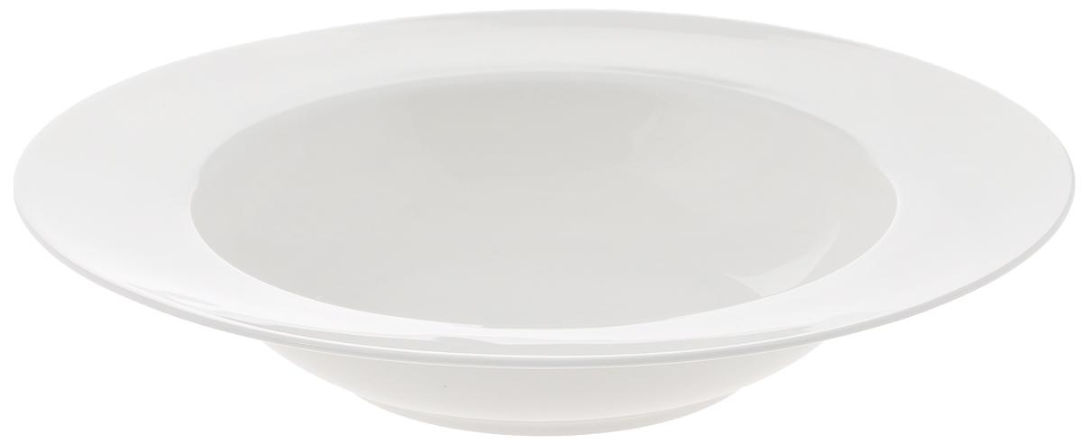 Тарелка глубокая Wilmax, диаметр 25 смWL-991218 / AГлубокая тарелка Wilmax, выполненная из высококачественного фарфора, имеет классическую круглую форму и предназначена для красивой сервировки обеденного стола. Она прекрасно впишется в интерьер вашей кухни и станет достойным дополнением к кухонному инвентарю. Тарелка Wilmax подчеркнет прекрасный вкус хозяйки и станет отличным подарком для вас и ваших близких. Можно мыть в посудомоечной машине и использовать в микроволновой печи. Диаметр тарелки (по верхнему краю): 25 см. Объем: 600 мл.