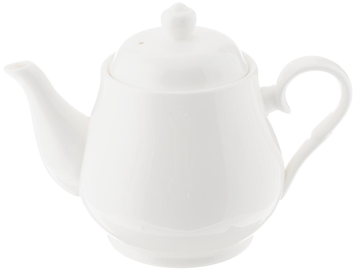 Чайник заварочный Wilmax, 1,15 лWL-994019 / 1CЗаварочный чайник Wilmax изготовлен из высококачественного фарфора. Глазурованное покрытие обеспечивает легкую очистку. Изделие прекрасно подходит для заваривания вкусного и ароматного чая, а также травяных настоев. Ситечко в основании носика препятствует попаданию чаинок в чашку. Оригинальный дизайн сделает чайник настоящим украшением стола. Он удобен в использовании и понравится каждому. Можно мыть в посудомоечной машине и использовать в микроволновой печи. Диаметр чайника (по верхнему краю): 10 см. Высота чайника (без учета крышки): 12,5 см.
