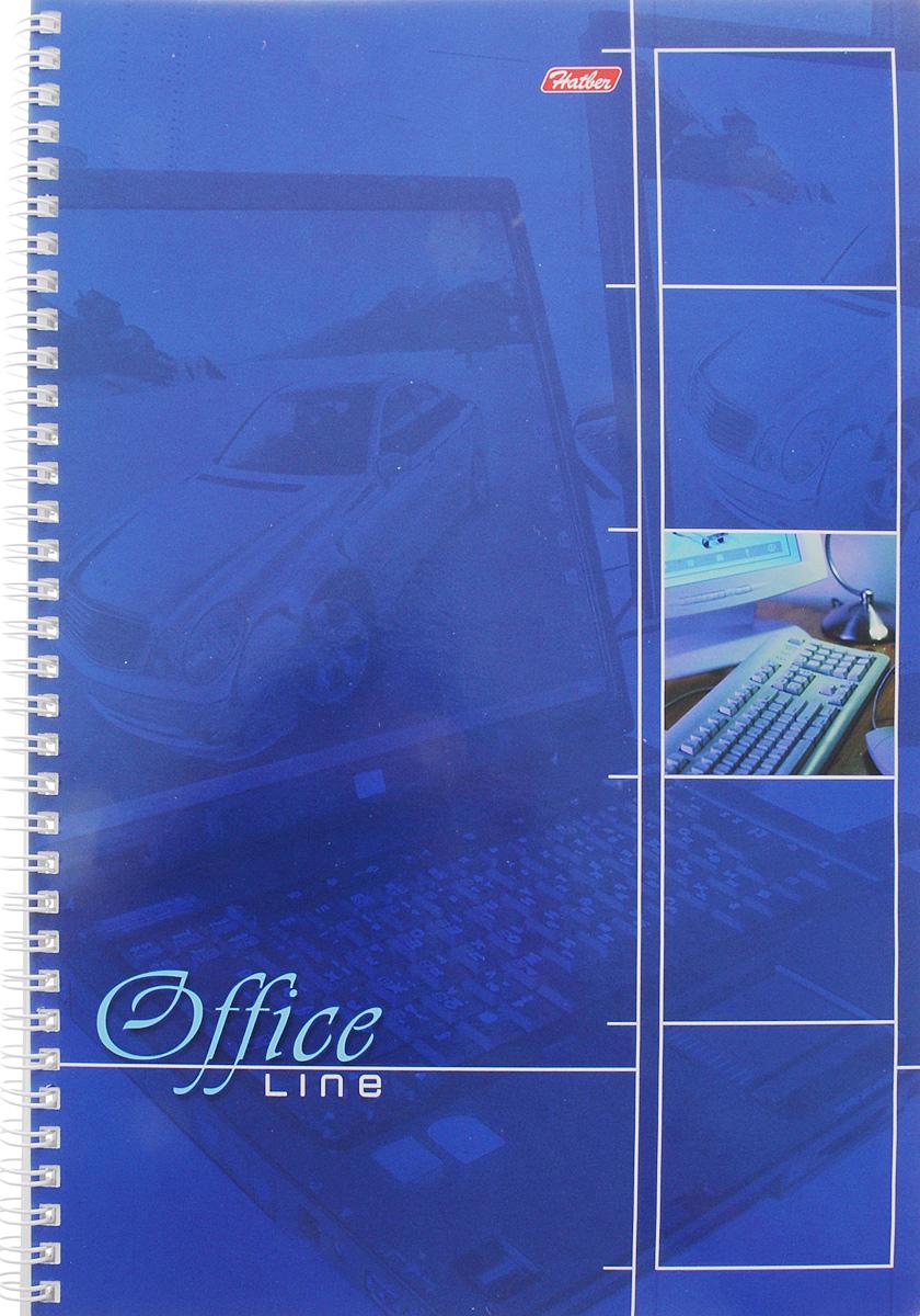 Hatber Тетрадь Office Line 80 листов в клетку цвет синий15293Тетрадь Hatber Office Line непременно подойдет как школьнику, так и студенту.Обложка тетради выполнена из картона и оформлена в синем цвете. Внутренний блок состоит из 80 листов в синюю клетку с закругленными углами, формата А4. Листы тетради соединены надежным металлическим гребнем. Такая удобная тетрадь от Hatber Office Line станет для вас надежным помощником в учебных или офисных делах.